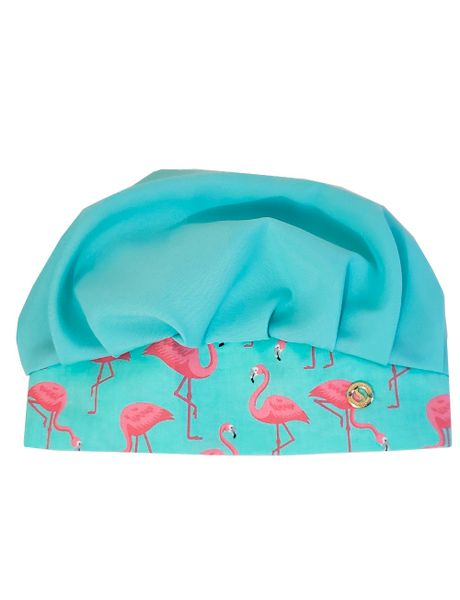Touca-Feminina-Tricoline-Azul-Detalhes-Flamingos