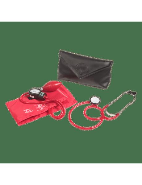 Conjunto-Aparelho-De-Pressao-Velcro-e-Estetoscopio-Duplo-BIC-Vermelho