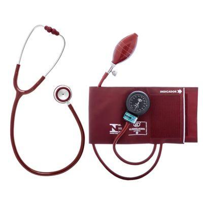 Conjunto-Aparelho-de-Pressao-Velcro-e-Estetoscopio-Duplo-Bic-Vinho