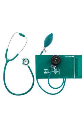 Conjunto-Aparelho-de-Pressao-Velcro-e-Estetoscopio-Duplo-Verde-Bic