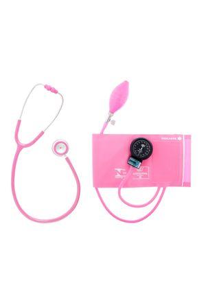 Conjunto-Aparelho-de-Pressao-Velcro-e-Estetoscopio-Duplo-Rosa-Bic