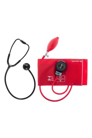 Conjunto-Aparelho-de-Pressao-Velcro-Vermelho-e-Estetoscopio-Duplo-Bic-Black