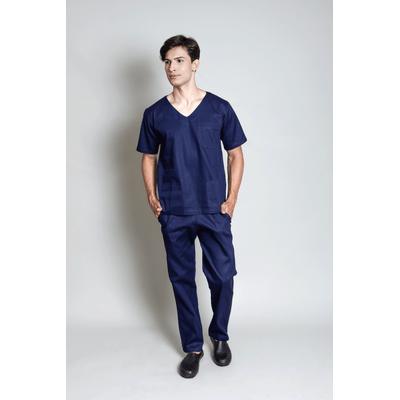 conjunto-pijama-cirurgico-masculino-brim-leve-azul-marinho-1