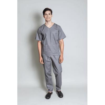 conjunto-pijama-cirurgico-masculino-brim-leve-cinza-1